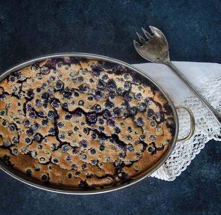 whole grain blueberry clafoutis