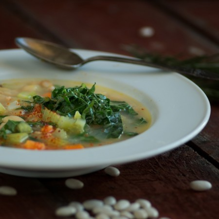 Our Simple Supper: Kale and White Bean Soup