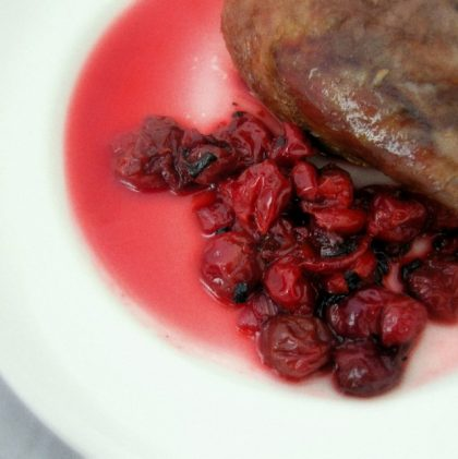 Slow-roasted Duck with Spiced Sour Cherry Sauce