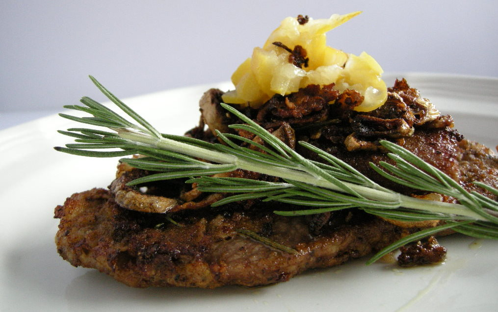 pan-fried veal with rosemary