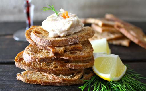 Taramasalata ingredients for Waitrose canape selection
