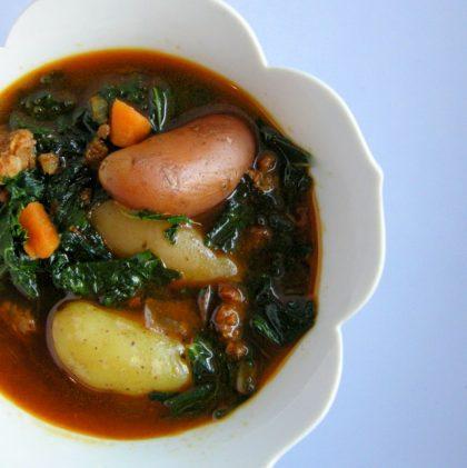 A Recipe: Kale & Potato Soup with Chorizo