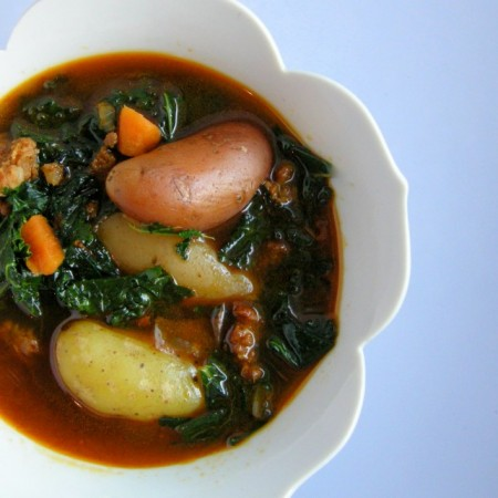 A Recipe: Kale & Potato Soup with Chorizo