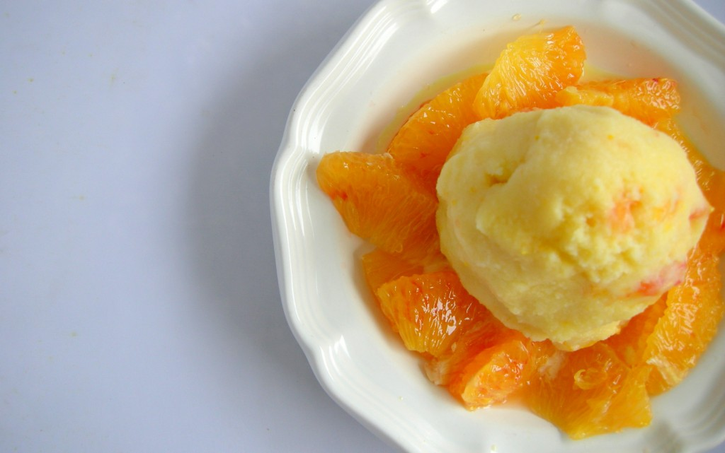 Olive Oil Ice Cream Recipe with Blood Oranges — Nourished Kitchen