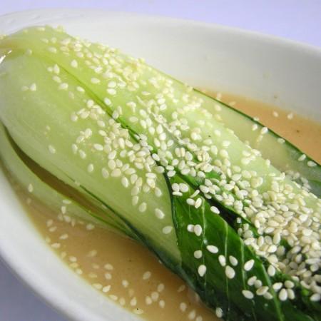 Recipe: Miso-glazed Bok Choy