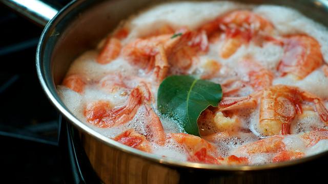shrimp and bay