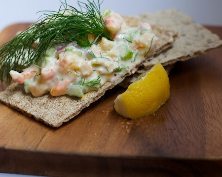 A Recipe: Shrimp Salad with Dill Mayonnaise