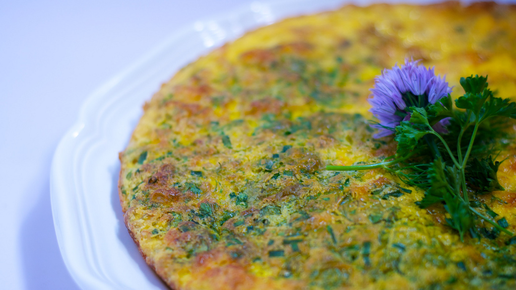 fresh herb fritatta