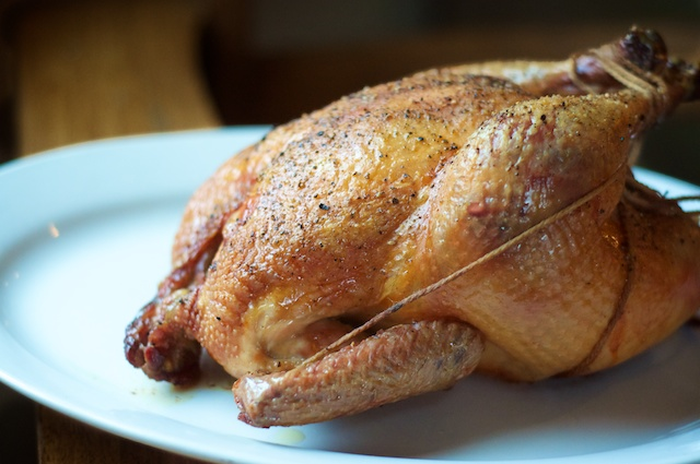roast chicken with olive oil salt and pepper