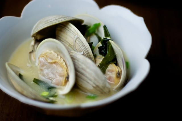 Miso Soup with Clams and Scallions