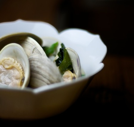 a recipe: miso soup with clams