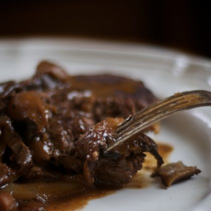 A Recipe: Salisbury Steak for Grown-ups