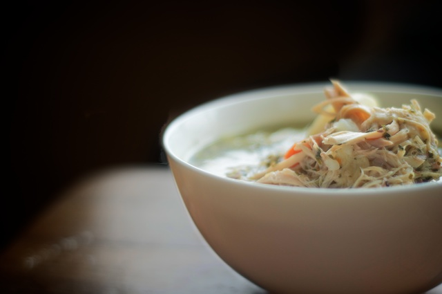 slowcooker chicken soup