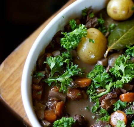 A Recipe: Wild Mushroom Stew with Grass-fed Beef