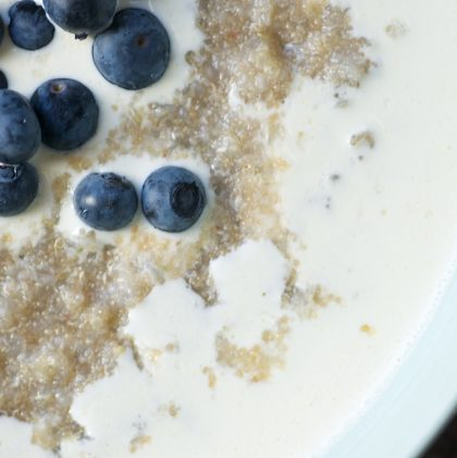 Three-seed Porridge with Ginger and Blueberries