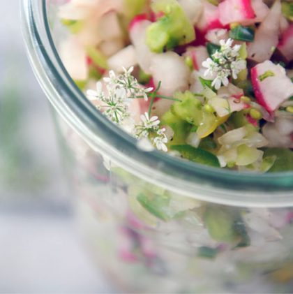 The First Salsa of the Season: Radish & Green Tomato