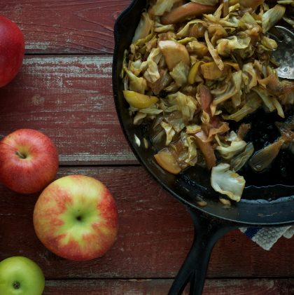How We Celebrate Autumn (and a Recipe for Cider-braised Cabbage and Apples)