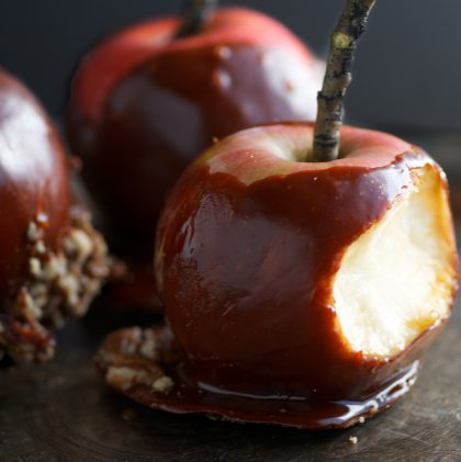 Spooky Honey Caramel Apples for Halloween