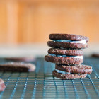 chocolate einkorn cookies
