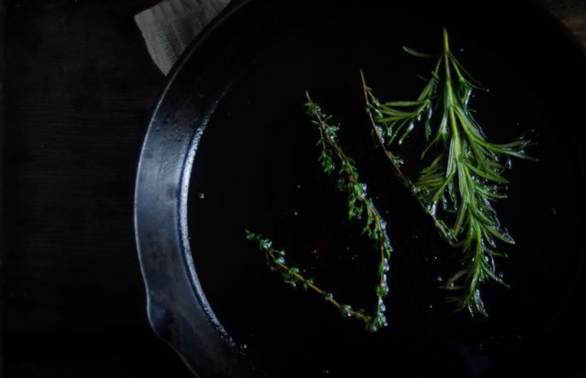 herbs in frying pan (1 of 1)