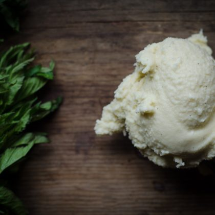 Vanilla Bean and Fresh Mint Ice Cream