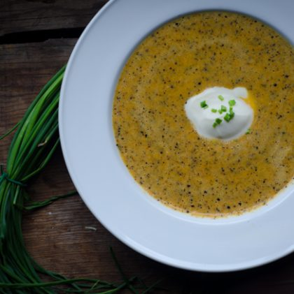 Carrot and Leek Soup with Toasted Mustard Seeds