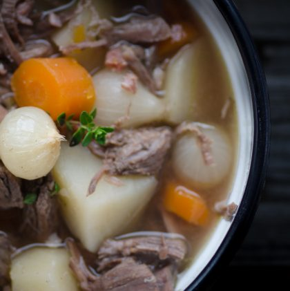Farmhouse Beef and Bacon Stew