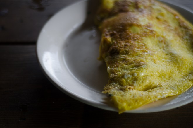 Stinging Nettle and Cheddar Omelet