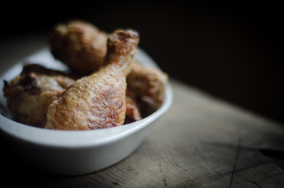 Oven-fried Chicken Drumsticks