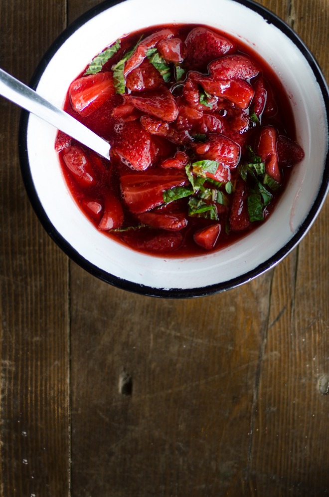 Strawberries with Mint