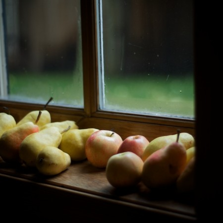Apples and Pears on a Window Sill