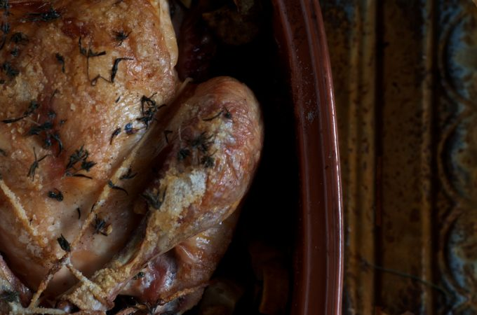 savory roasted chicken