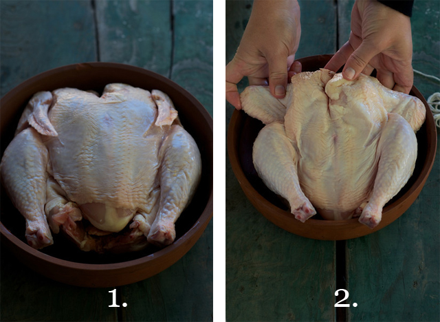 How to Truss a Chicken: Steps 1 and 2