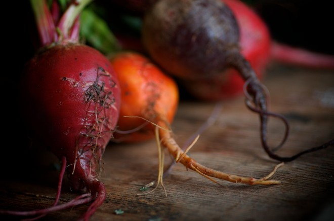 Beets for Beet and Walnut Salad with Kombucha Vinaigrette from The Nourished Kitchen: Farm-to-Table Recipes for the Traditional Foods Lifestyle #nourishedkitchen