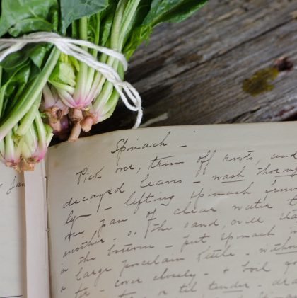 An Heirloom Recipe: Buttered Spinach from an 1840s Farm Journal