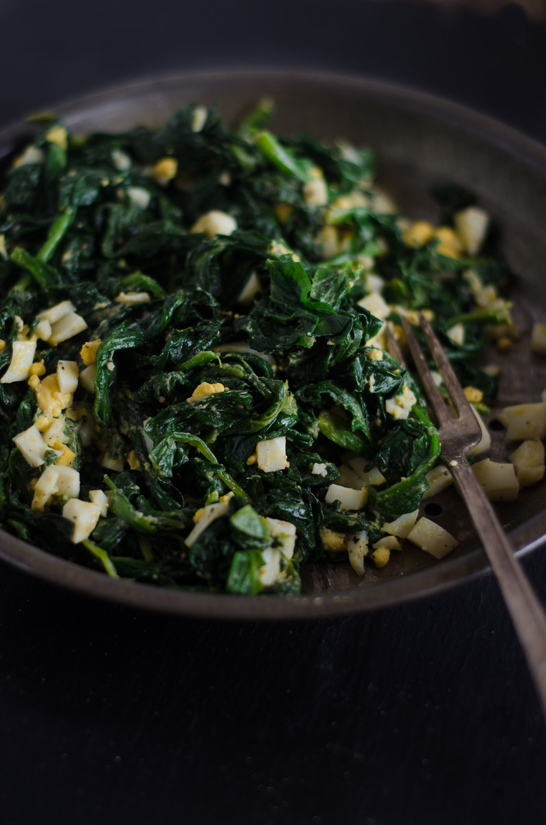 How to cook fresh spinach with butter