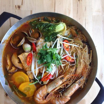 Spicy Korean Seafood and Vegetable Stew