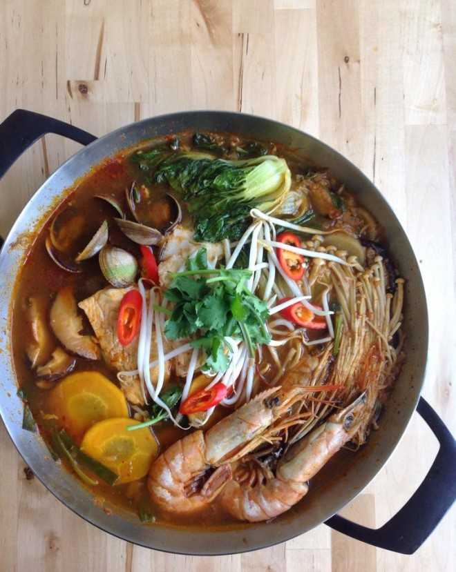 Korean Seafood and Vegetable Stew #nourishedkitchen