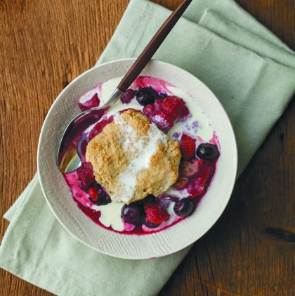 Summer Berry and Oat Cobbler (and a celebration of homemade flour)