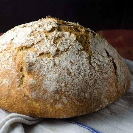 Our Daily Bread: Whole Grain, No-Knead Sourdough