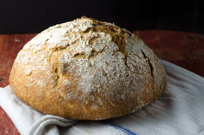 Whole Grain No-Knead Sourdough Bread from Nourished Kitchen #nourishedkitchen