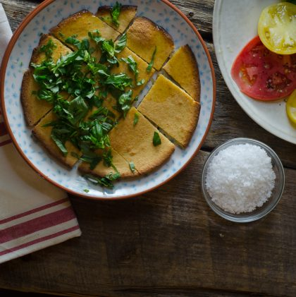 A Recipe for Socca, a simple, gluten-free chickpea flatbread