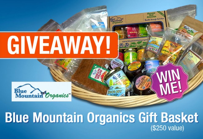 blue mountain organics gift basket giveaway — a $250 value
