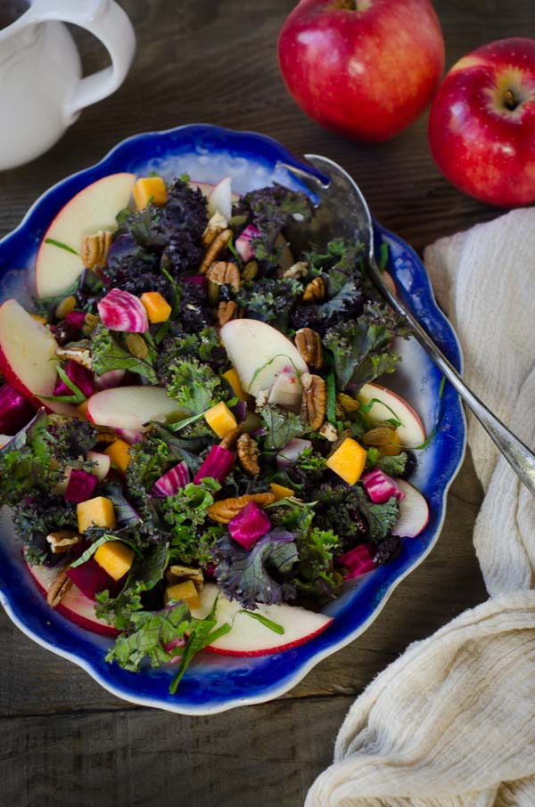 ... Salad with Apples, Beets, Butternut Squash, and Kombucha Vinaigrette