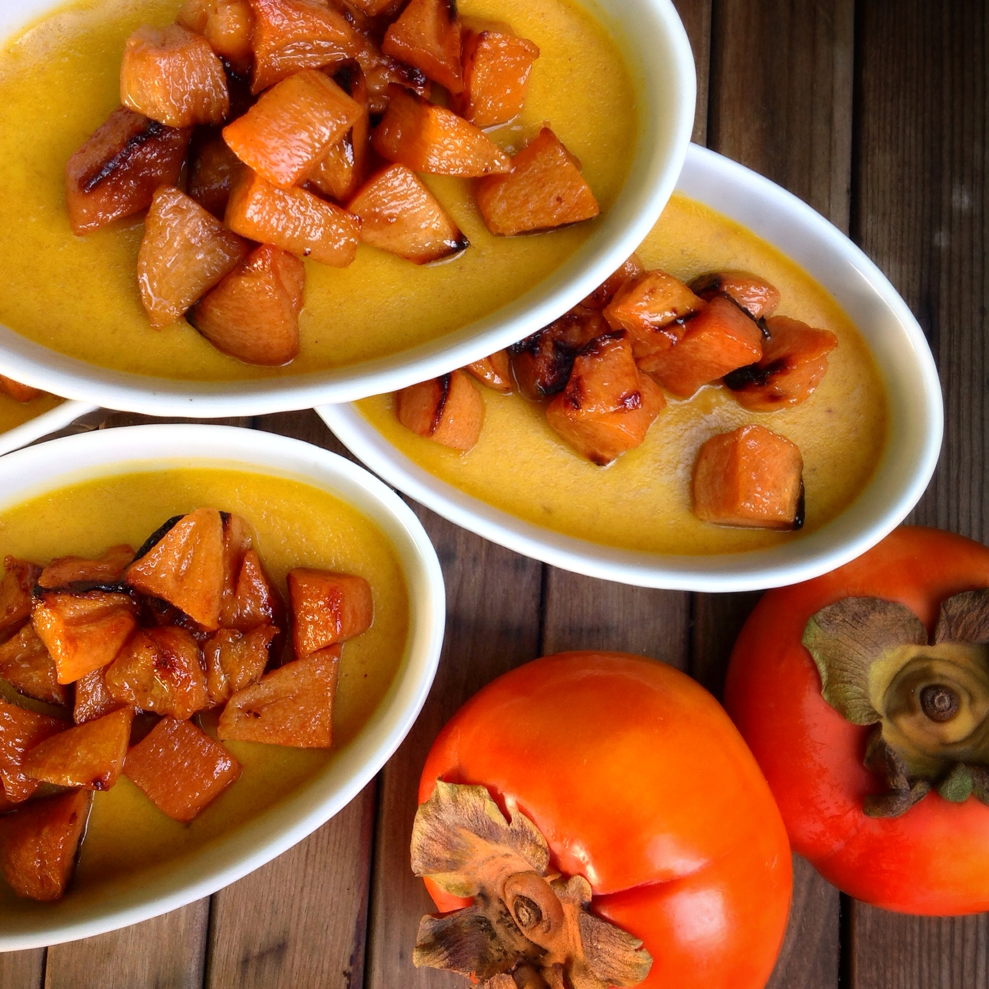 Nourished Kitchen: Roasted Persimmon And Ginger Custard