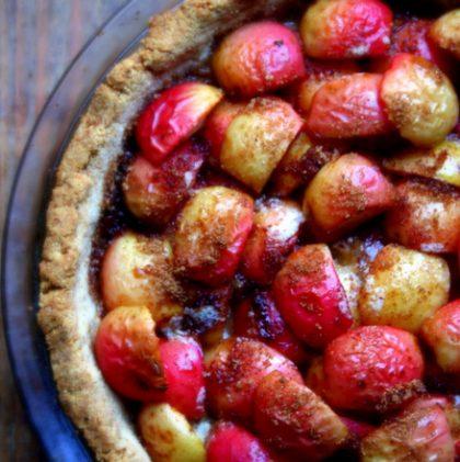 Apple Tart in an Oat and Walnut Crust