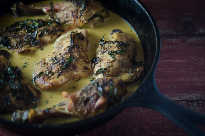 Pan-Roasted Chicken with Cream Sauce #nourishedkitchen #nourishingbroth