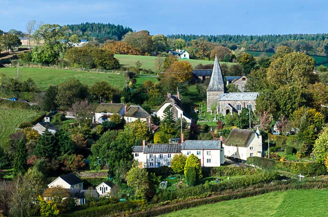 Devon Church from Hill