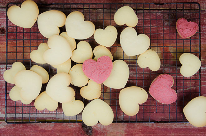 heart shaped einkorn cookies with frosting nourishedkitchen 1 of 1 - Nourished Kitchen