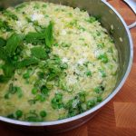 Farmers' Market Risotto with Spring Onion, Fresh Peas, and Mint4